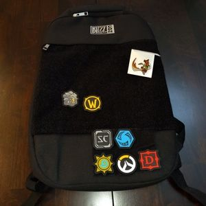 Blizzcon Overwatch Backpack W/Badges New